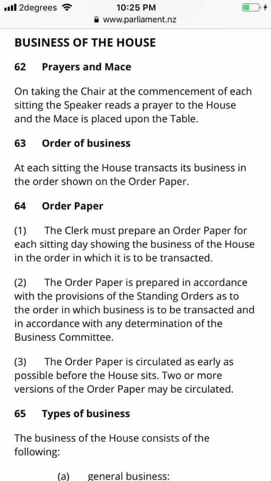 Business of The House item 62